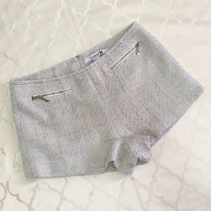 Forever 21 Tweed Shorts Small Cream Classy Shimmer